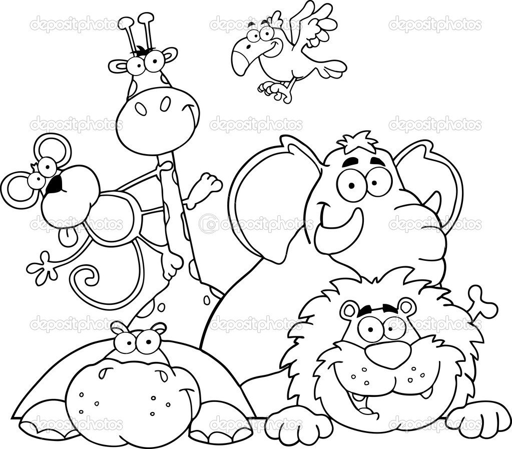 Best Jungle Animal Coloring Pages 52 In Seasonal Colouring Pages