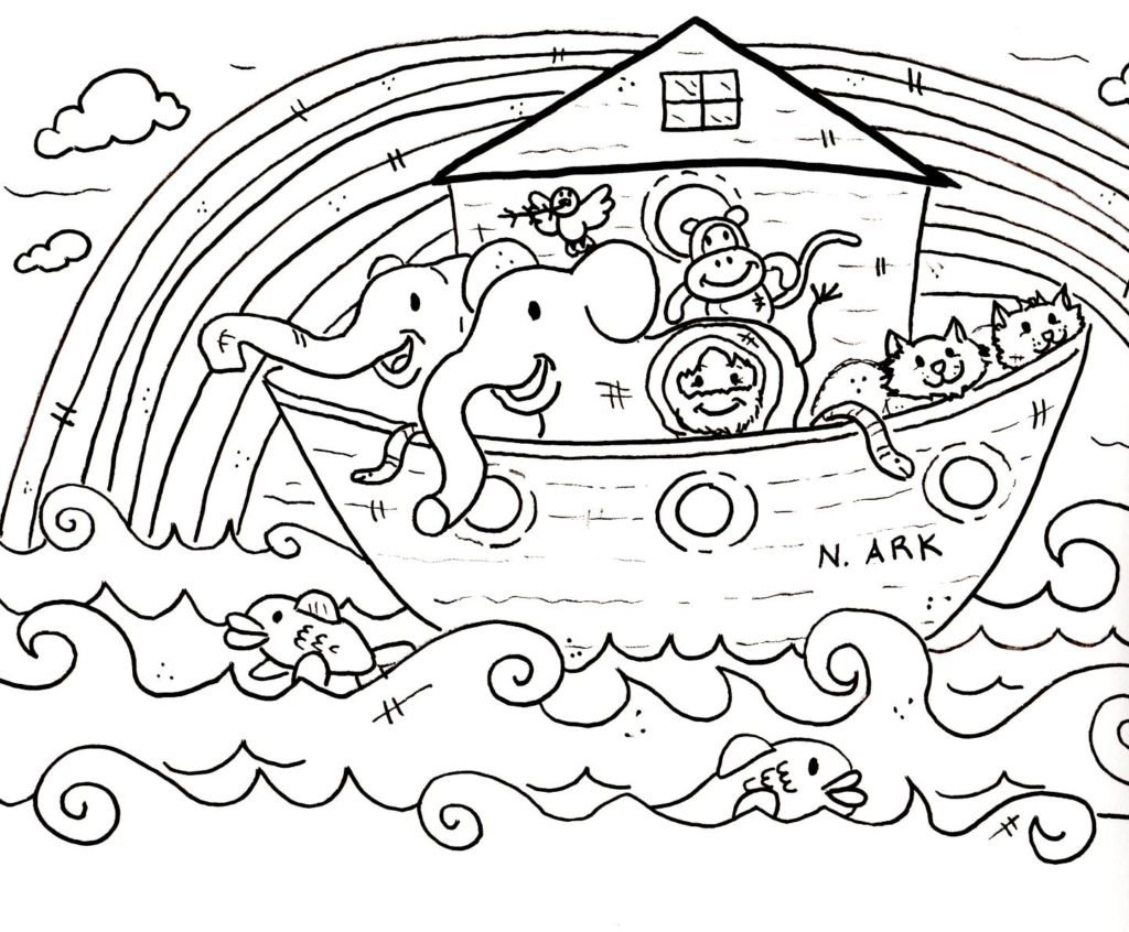 Bible Coloring Pages Noah's Ark