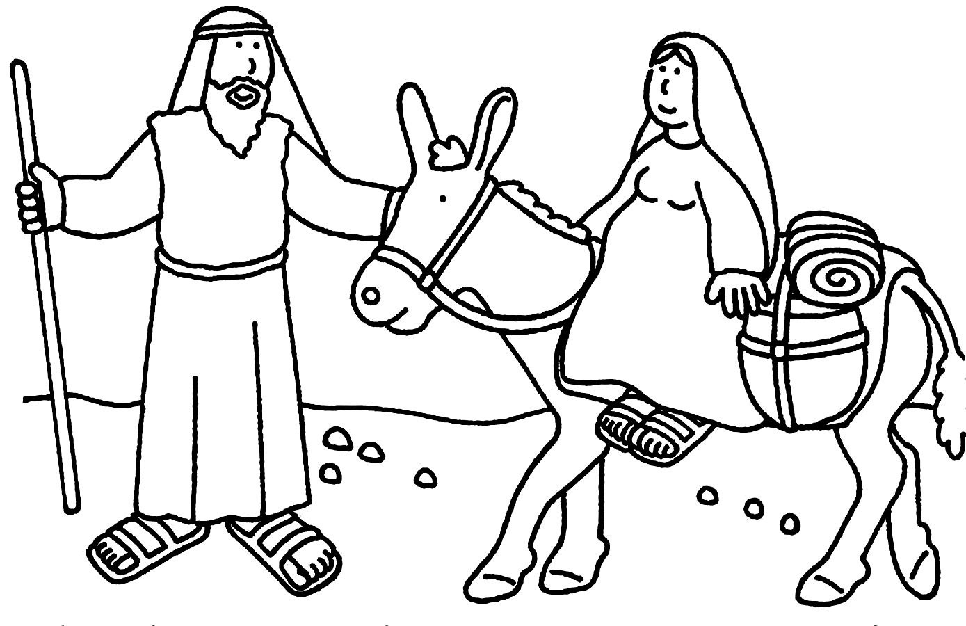 Bible Story Coloring Pages For Kids Archives With Christmas Story