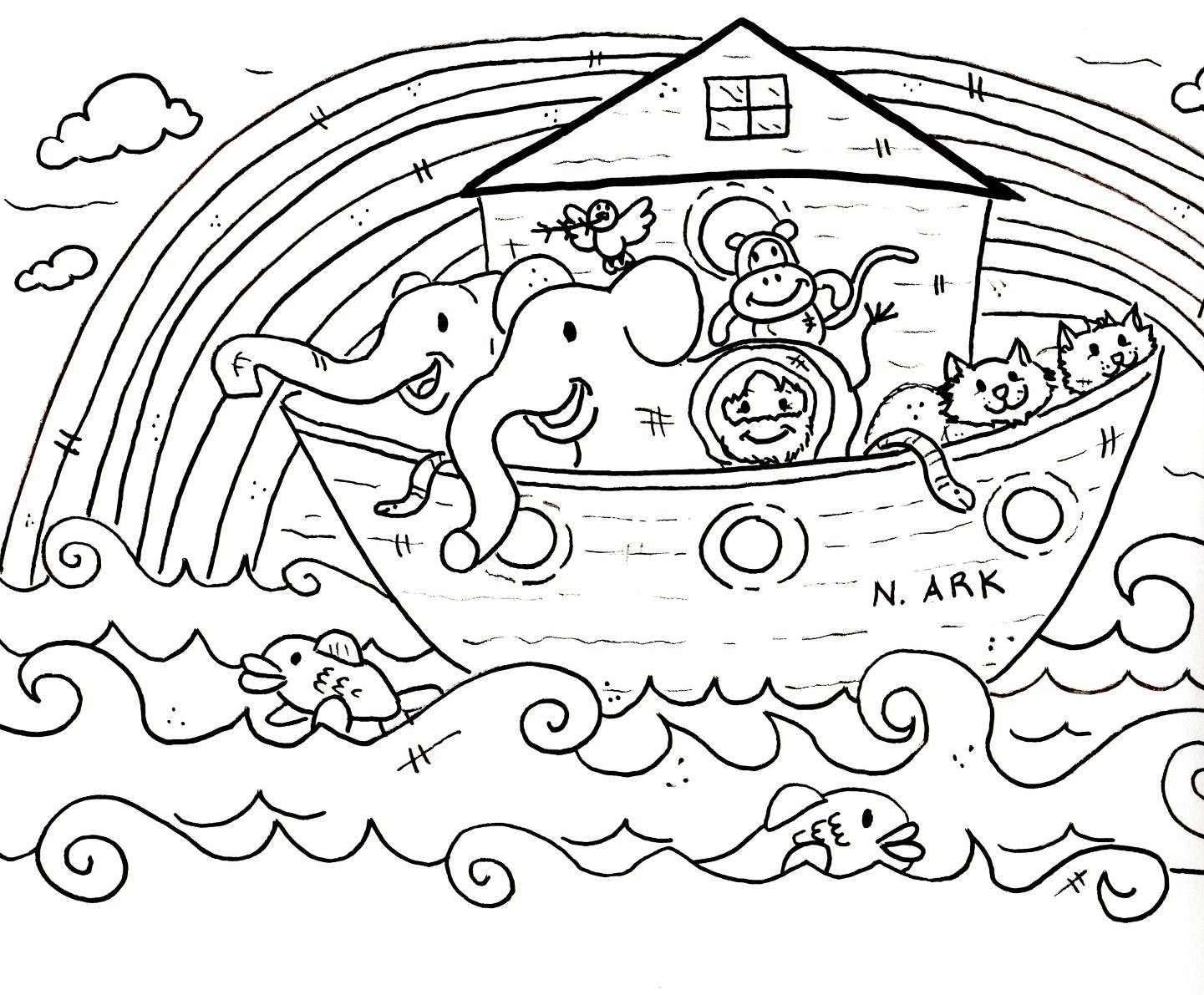Bible Story Coloring Sheets For Preschoolers With Christian Within