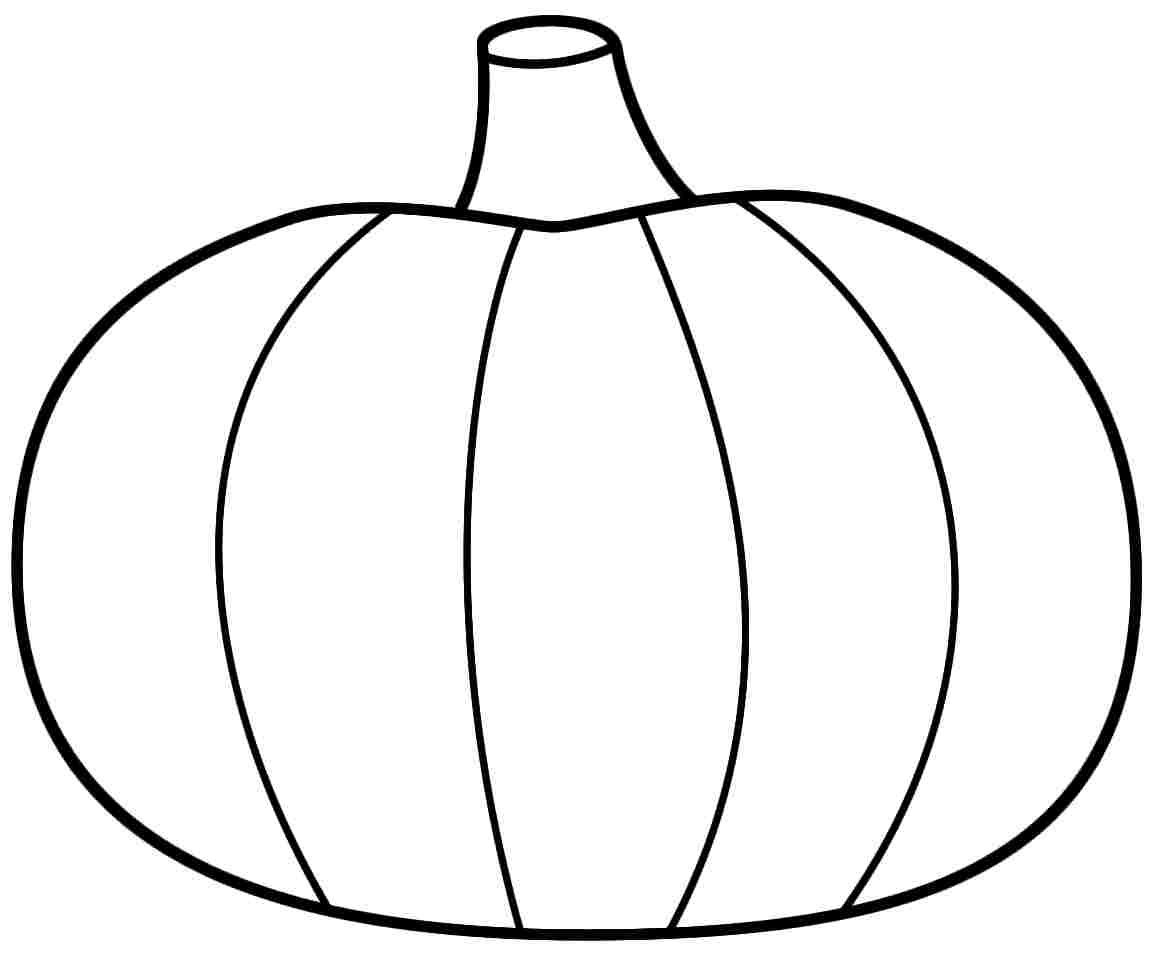 Blank Pumpkin With Leaves Coloring Pages Pumpkins Within Printable