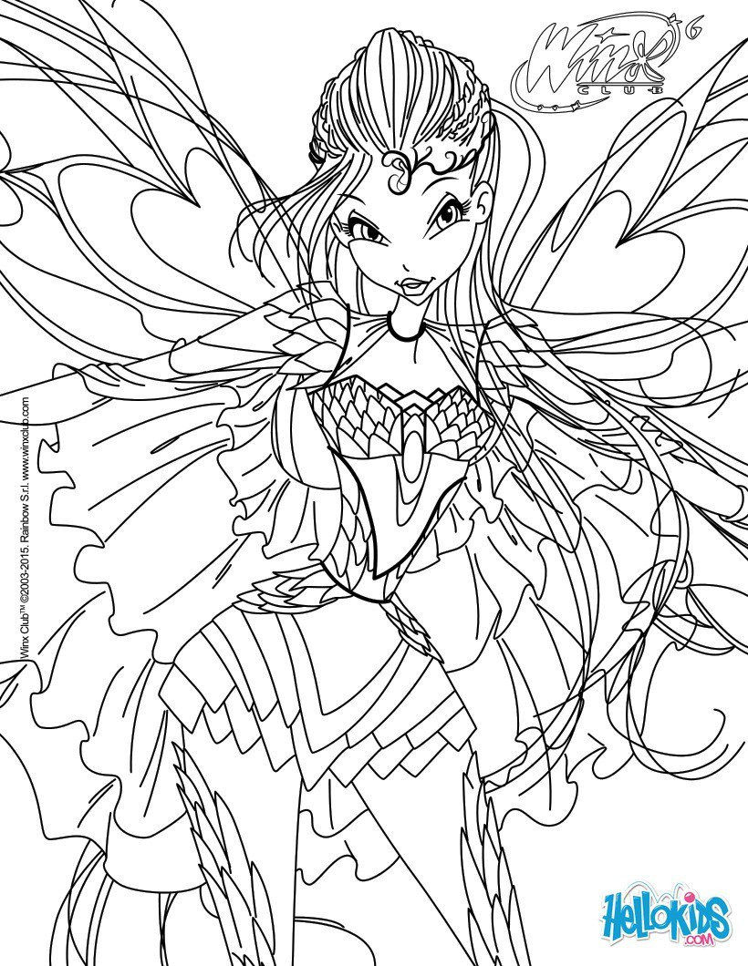 Bloom, Transformation Bloomix Coloring Pages