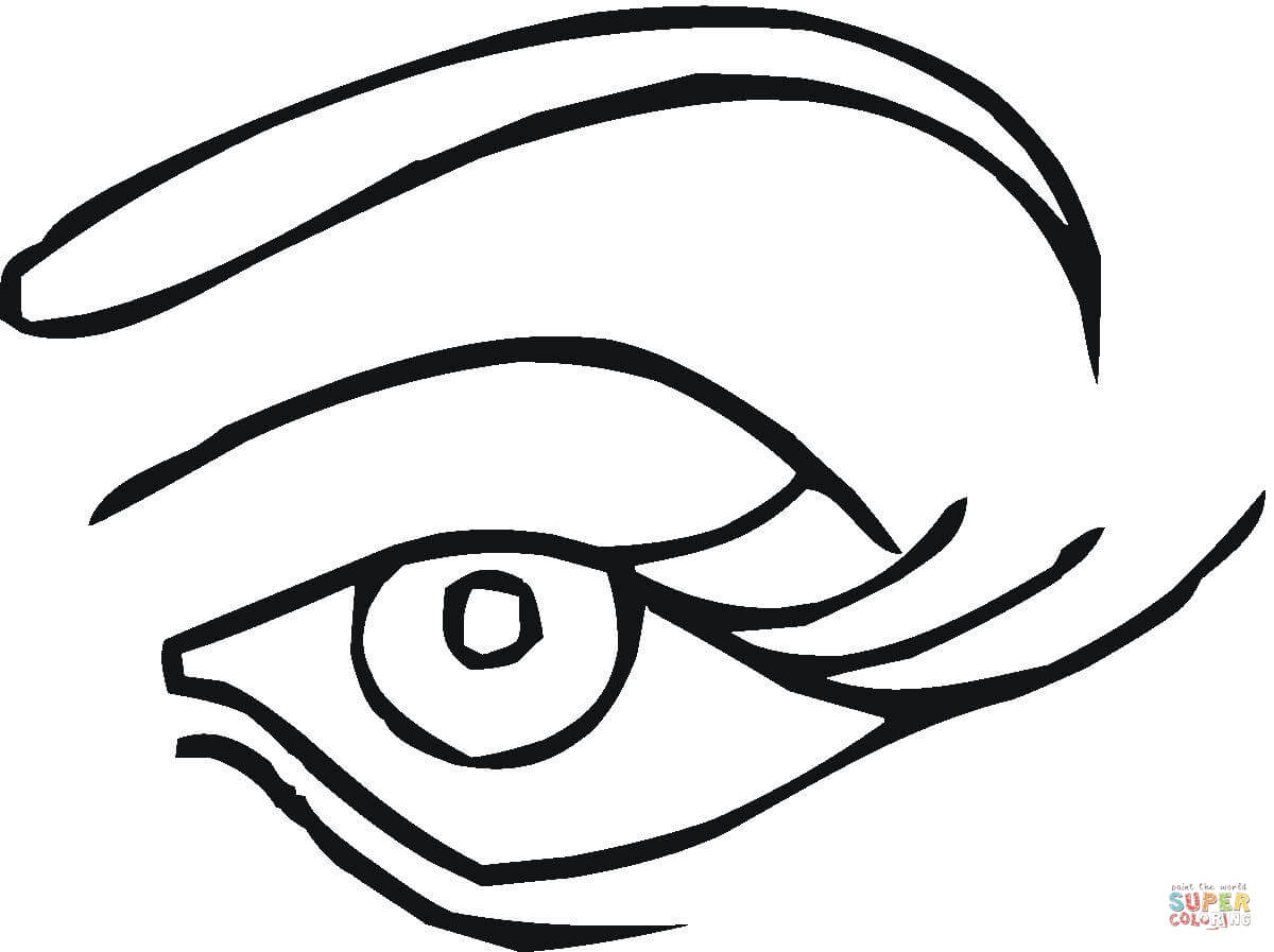 Blue Eye Coloring Page In Coloring Page