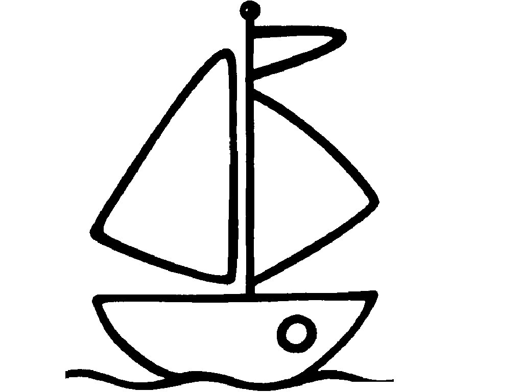 Boat Coloring Pages For Preschooler