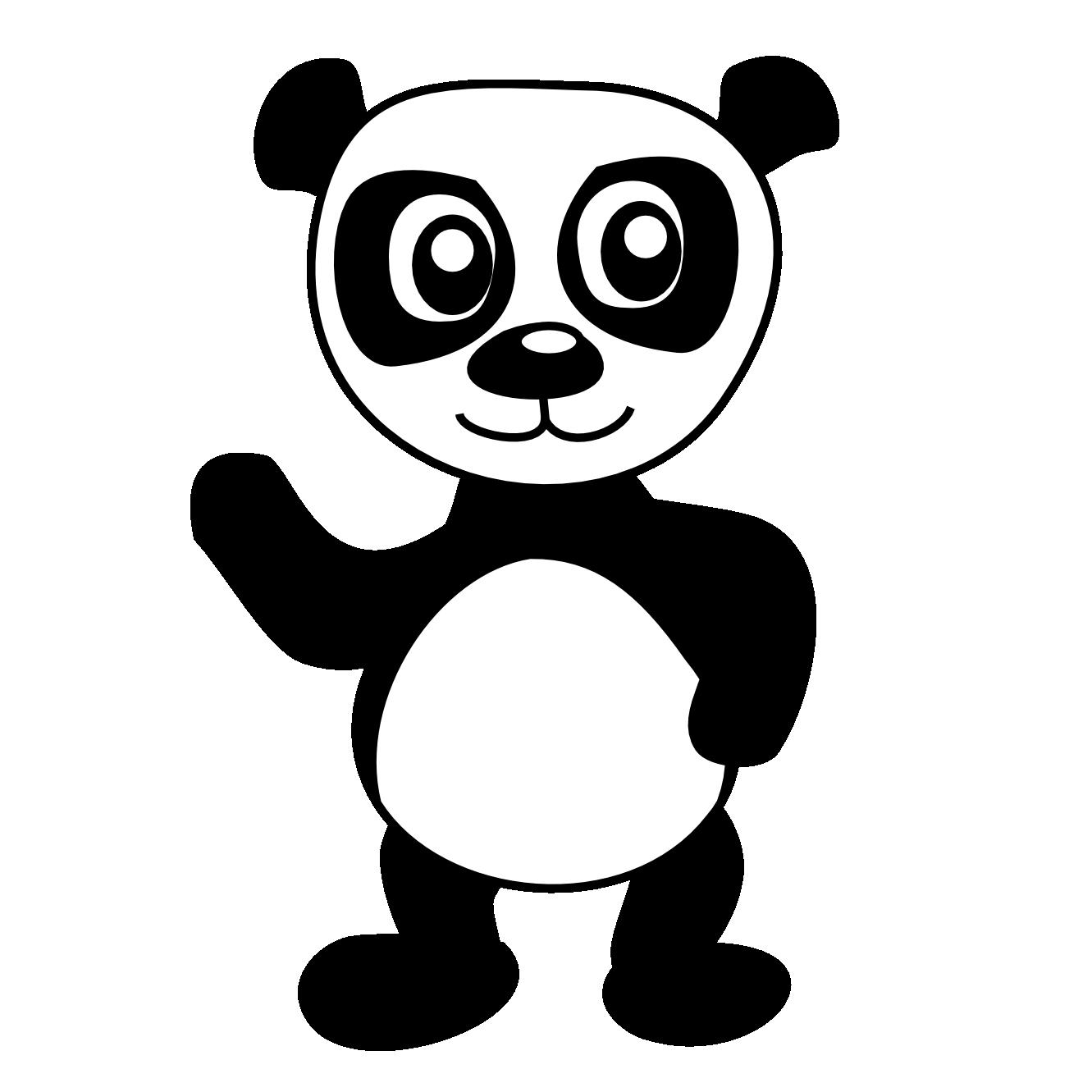 Brilliant Cartoon Panda Bear Coloring Pages With Panda Bear