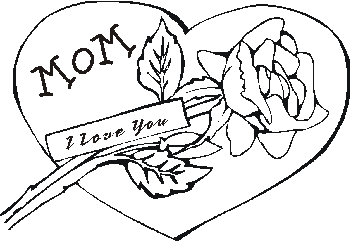 Brilliant Mothers Day Coloring Pages Adult With Color Pages For