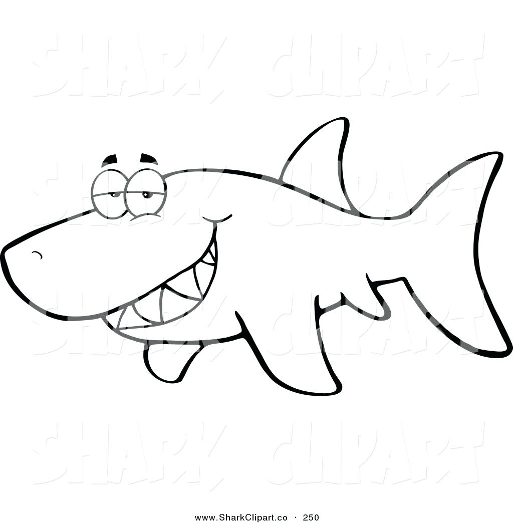Bull Shark Clipart Shark Outline
