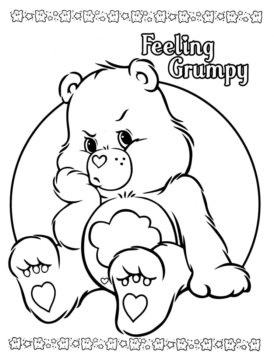 Care Bears Coloring Pages Grumpy