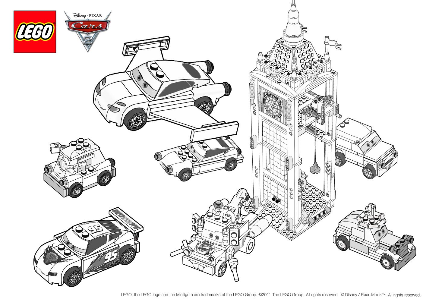 Download Coloring Pages  Cars 2 Coloring Pages  Cars 2 Coloring
