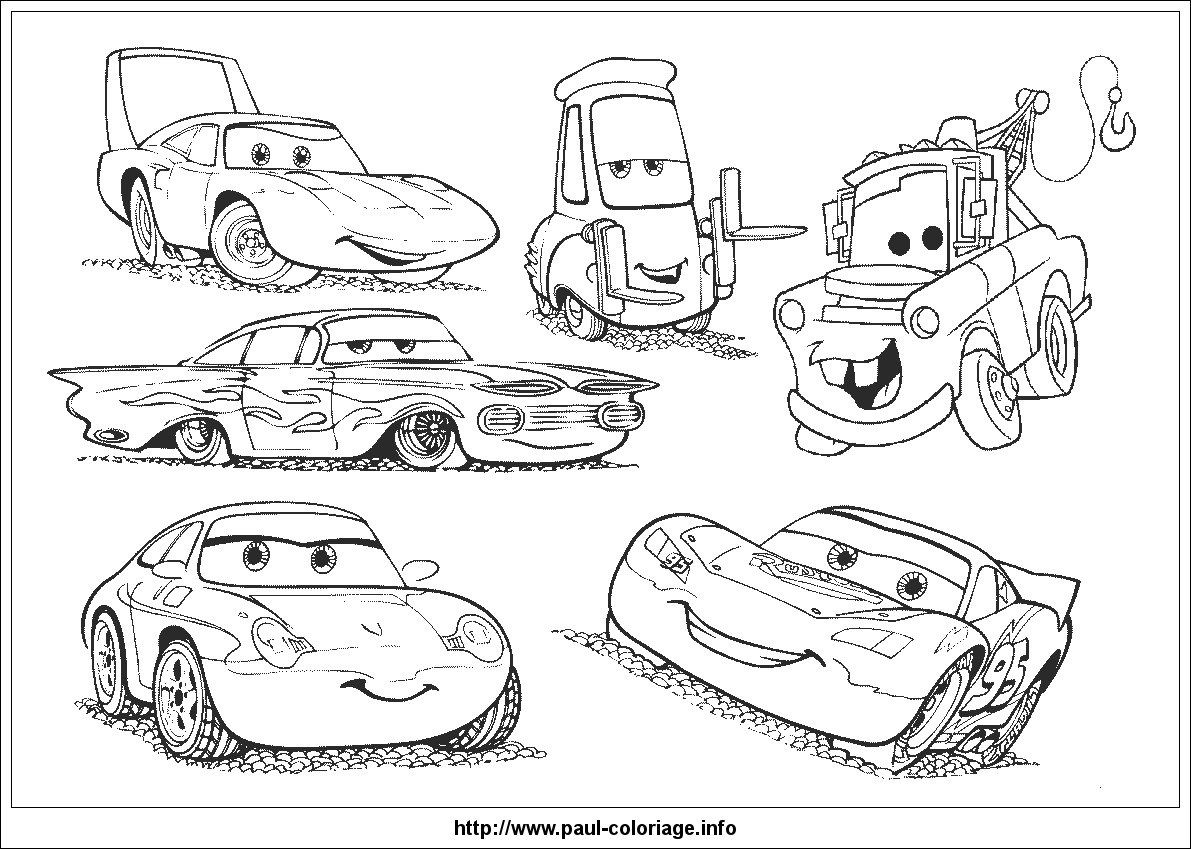 Cars The Movie Coloring Pages Mater Gallery  Disney New Cars 2