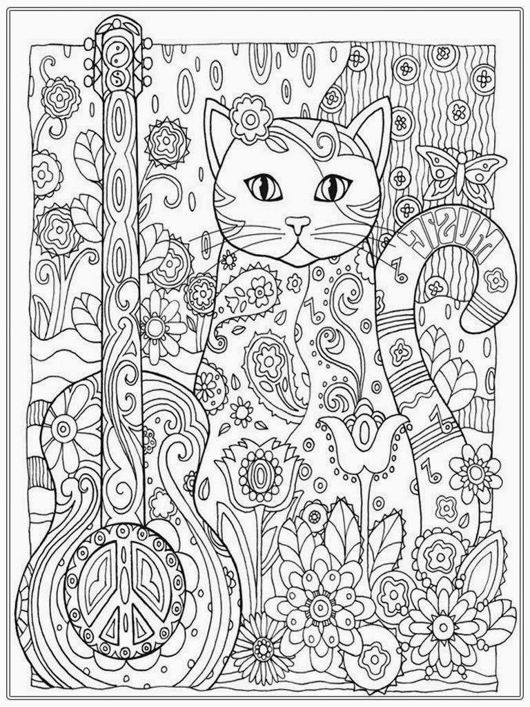 Cat Coloring Pages For Adult Realistic Coloring Pages 14036