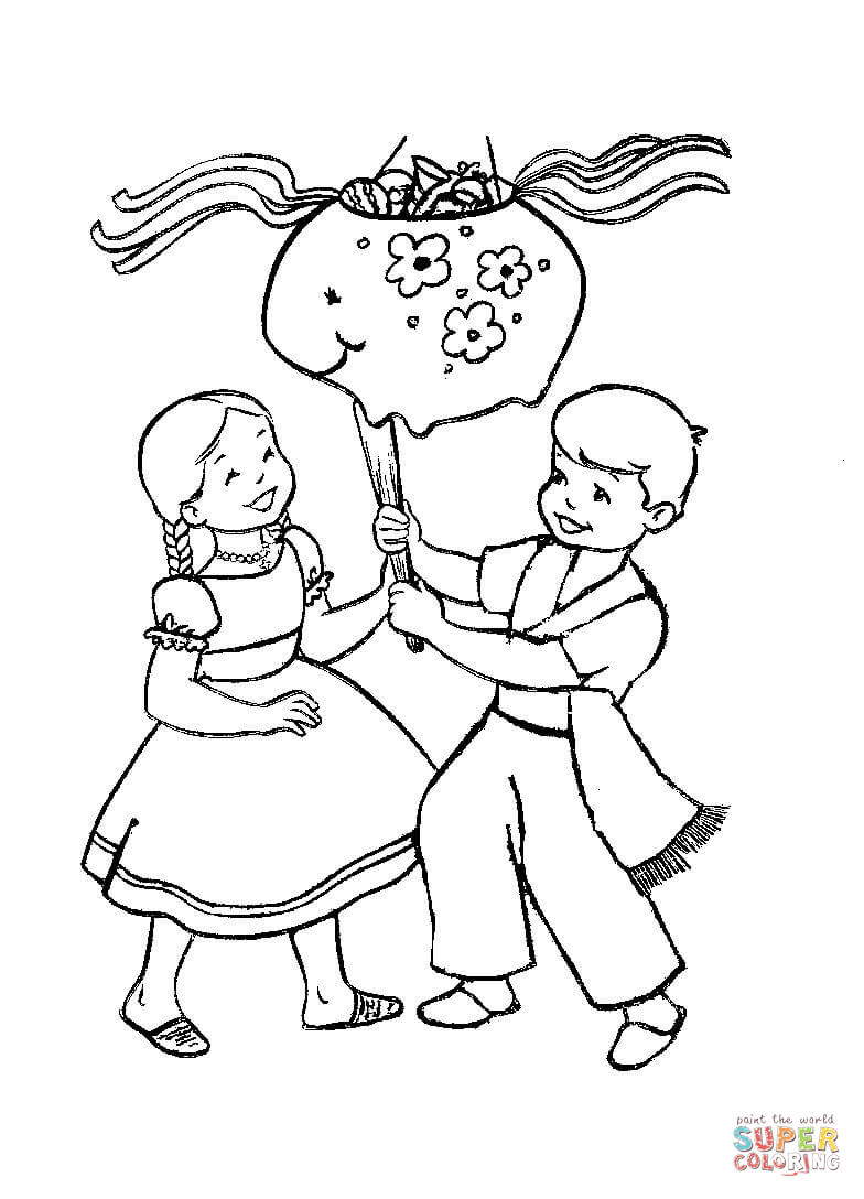 Christmas In Mexico Coloring Page