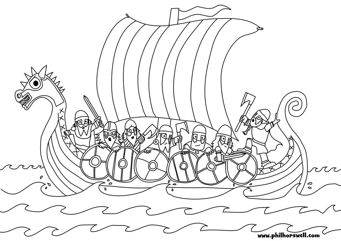 Click The Minnesota Vikings Logo Coloring Pages  Ship Of In Viking