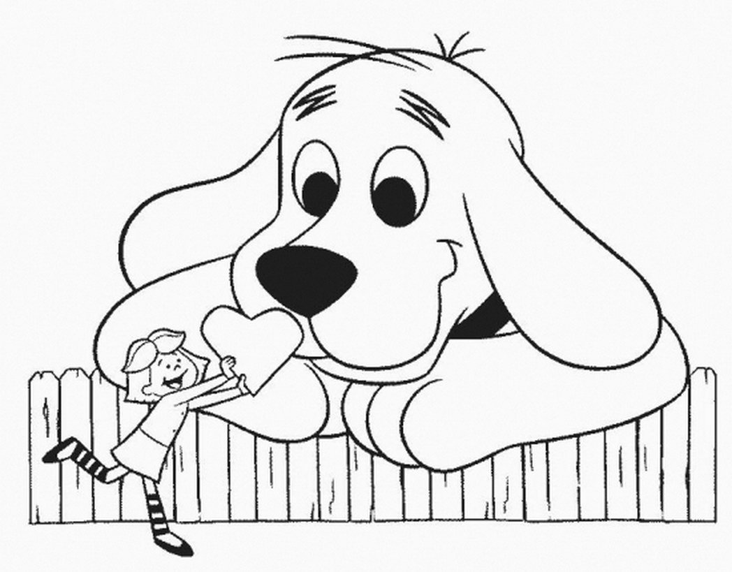 Download Coloring Pages  Clifford Coloring Pages  Clifford