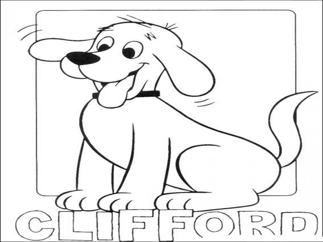 Clifford Coloring Pages With