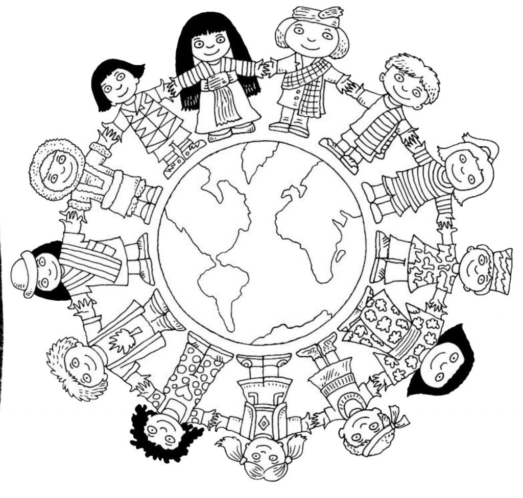 Clip Art  Christmas Around The World Coloring Pages  Breadedcat