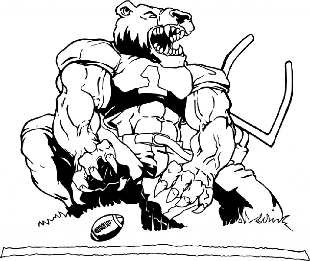 College Football Coloring Pages For Your House In