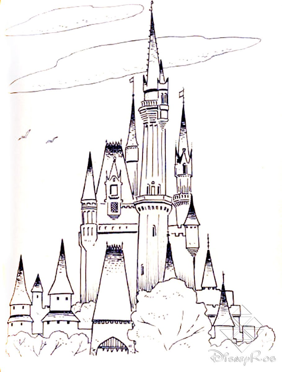 Coloring Pages Disney World Inside