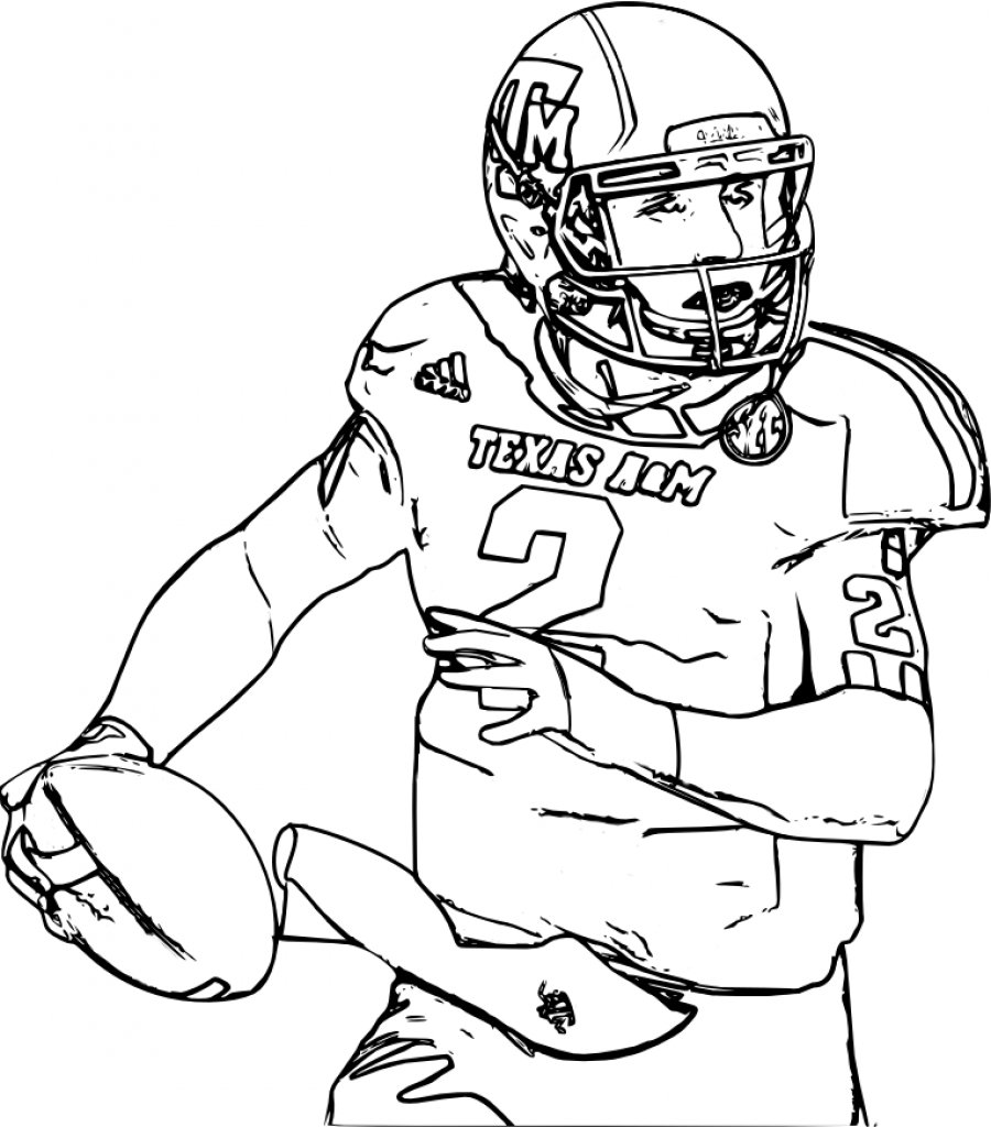 Coloring Pages For Boys College Football In Cure Draw