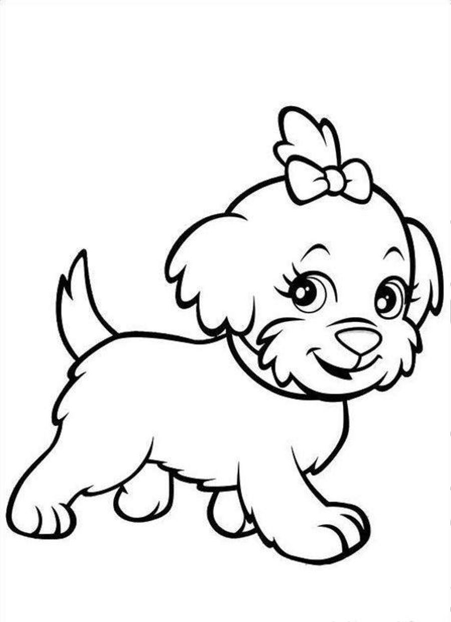 Coloring Pages For Girls Puppies Printable