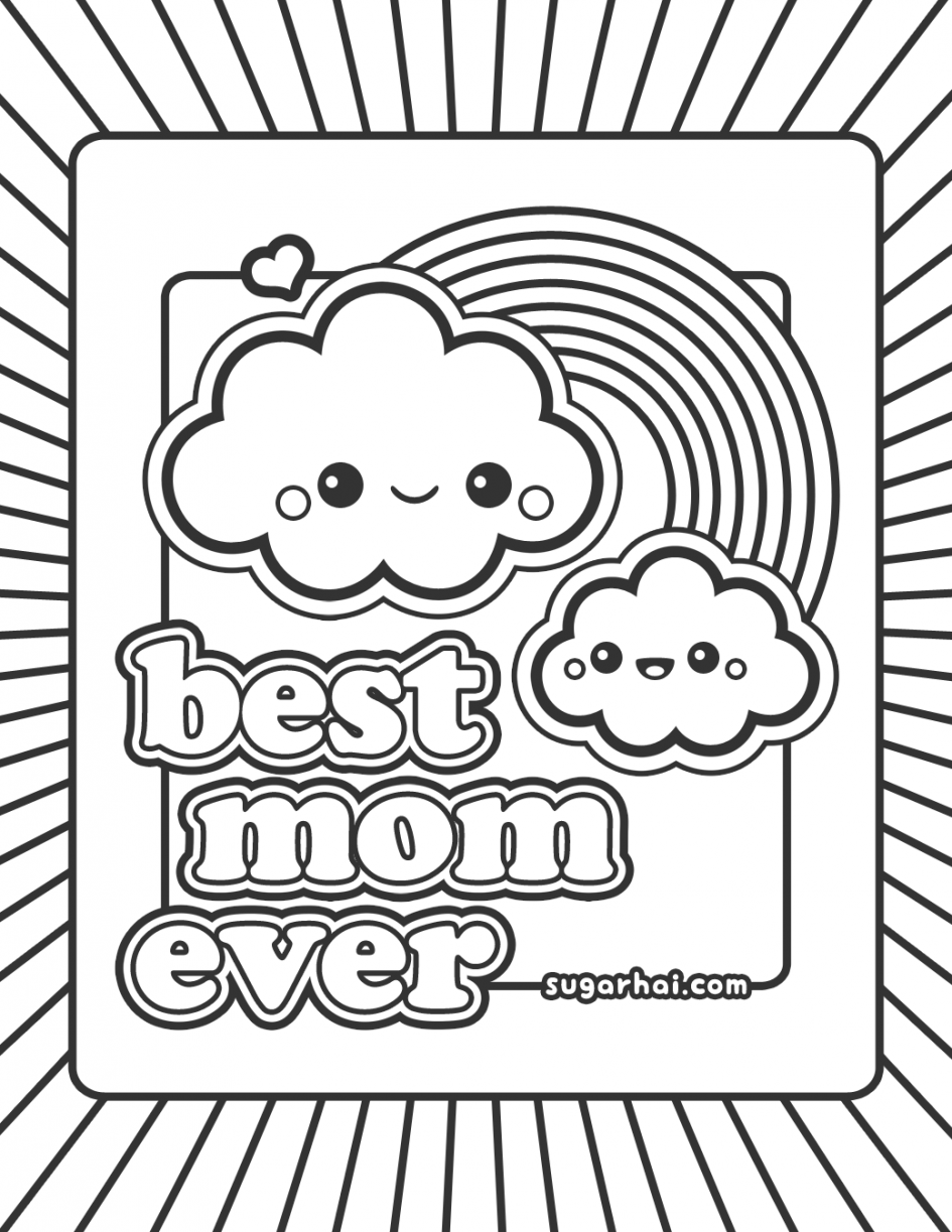 Coloring Pages For Mom Alluring Color Throughout