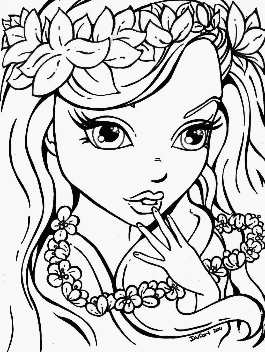 Coloring Pages For Teens Girl