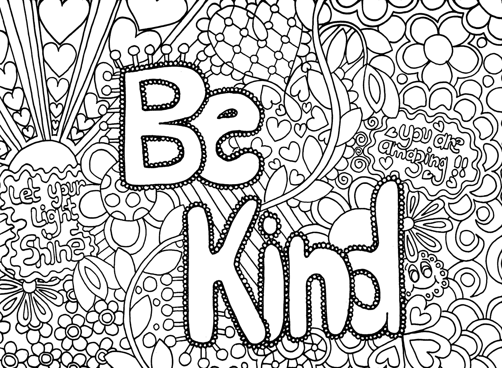 Coloring Pages For Teens With Words