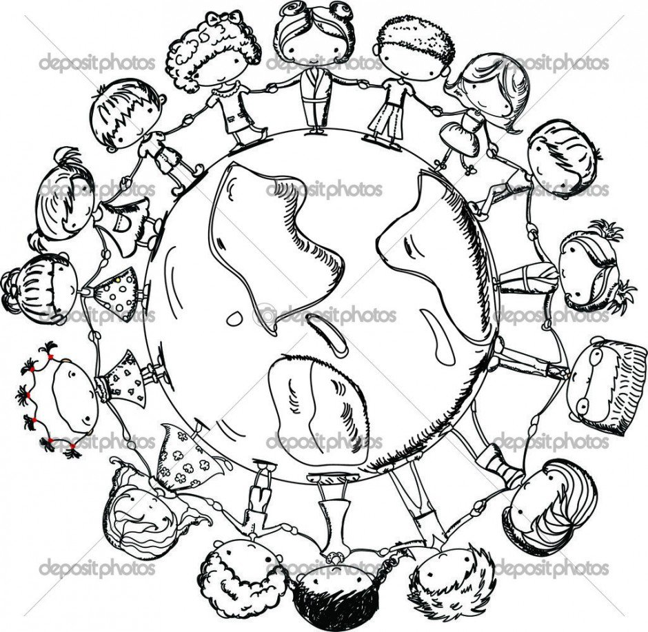 Christmas Around The World Coloring Pages Inside