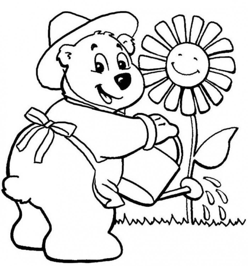 Pages Of Flowers For Kids