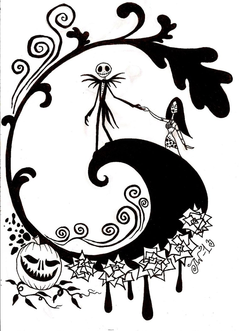 Nightmare Before Christmas Coloring Pages Coloring Pages Of