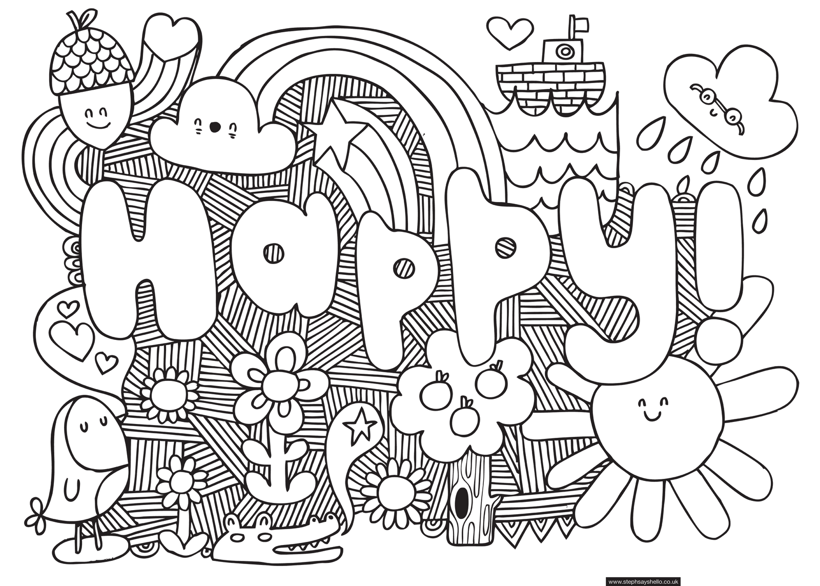 Download Coloring Pages Of Patterns