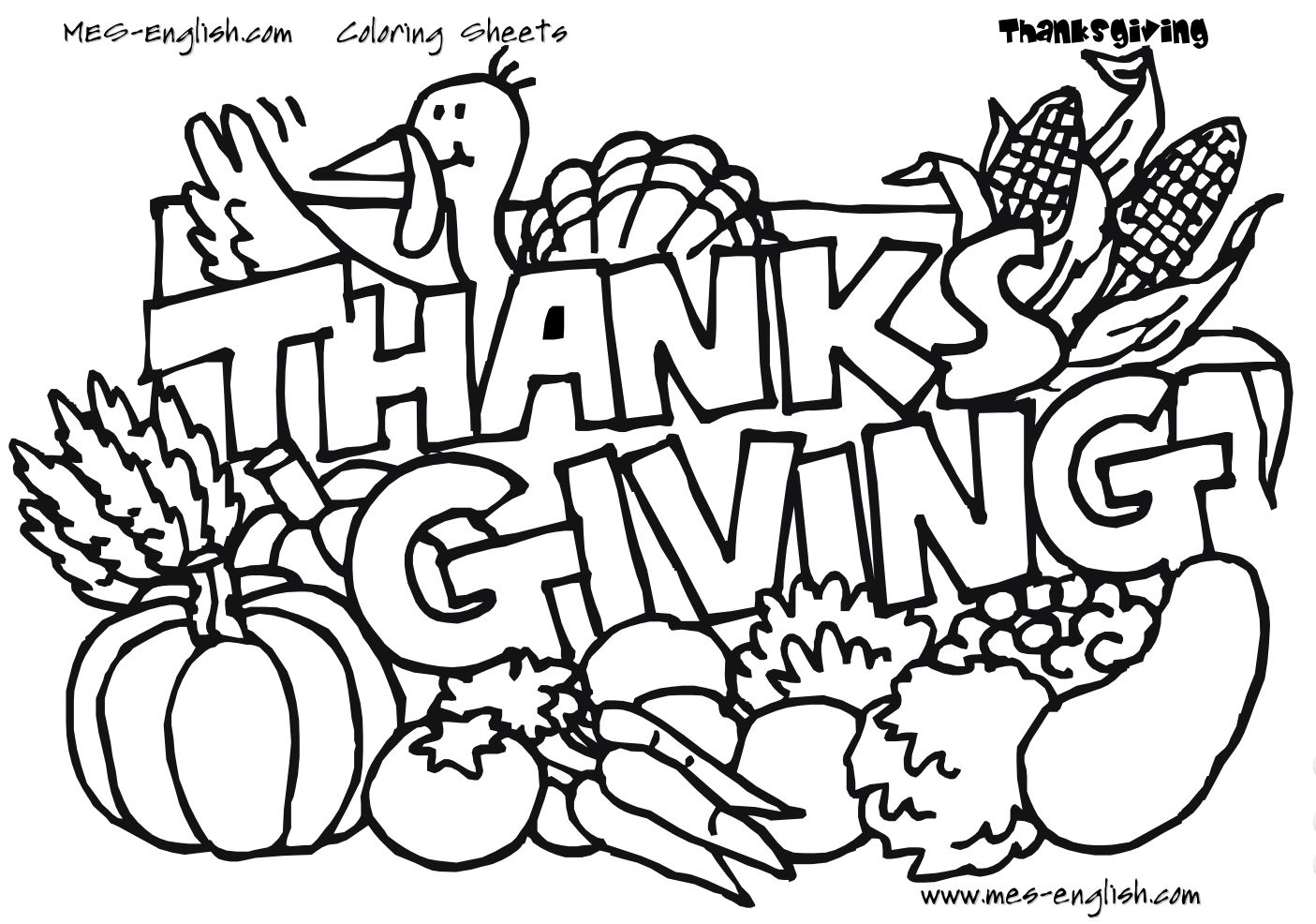 Thanksgiving Free Coloring Pages