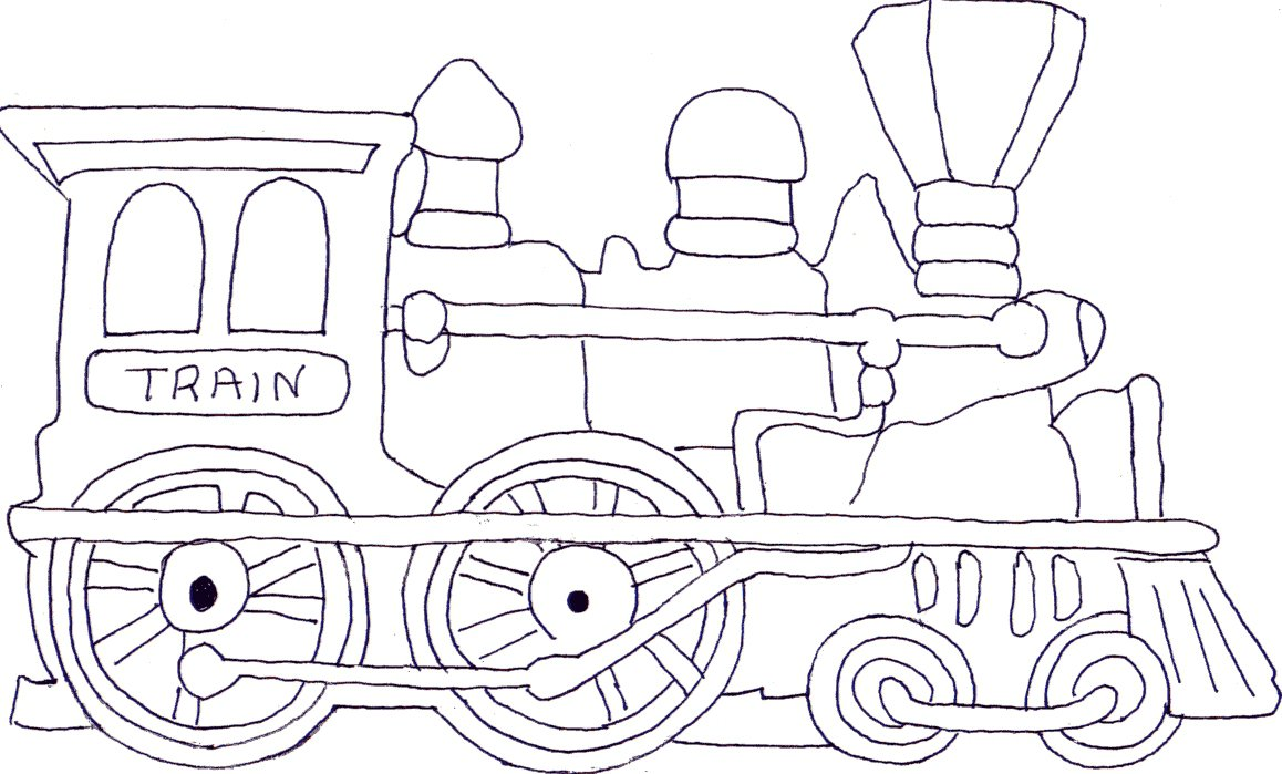 Coloring Pictures Of Trains Best Of Pages