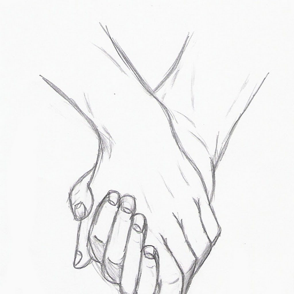 Couple Holding Hands Drawing Anime Couples Drawing Holding Hands