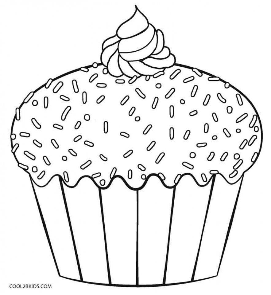 Get This Cupcake Coloring Pages Printable 74126 !