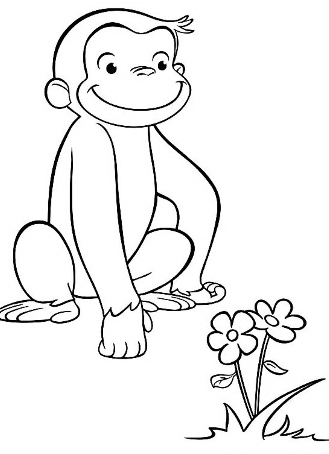Curious George Coloring Printables Pbs Kids 20045 New Page