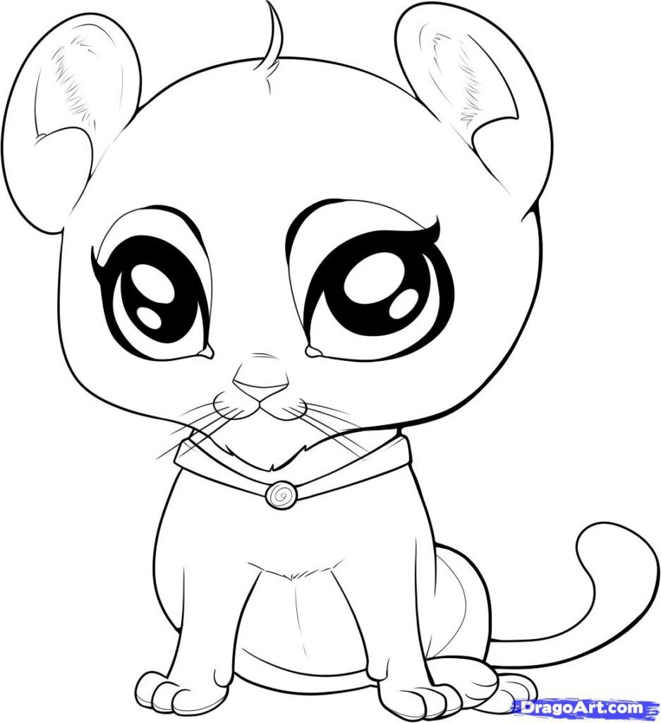 Cute Baby Animal Coloring Pages Printable For Of Animals