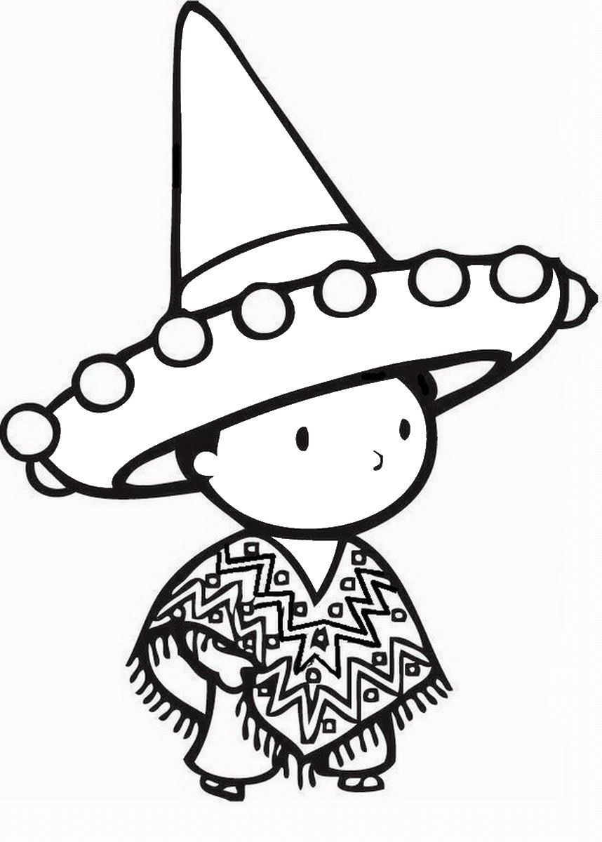 Cute Kids Cinco De Mayo Coloring Pages
