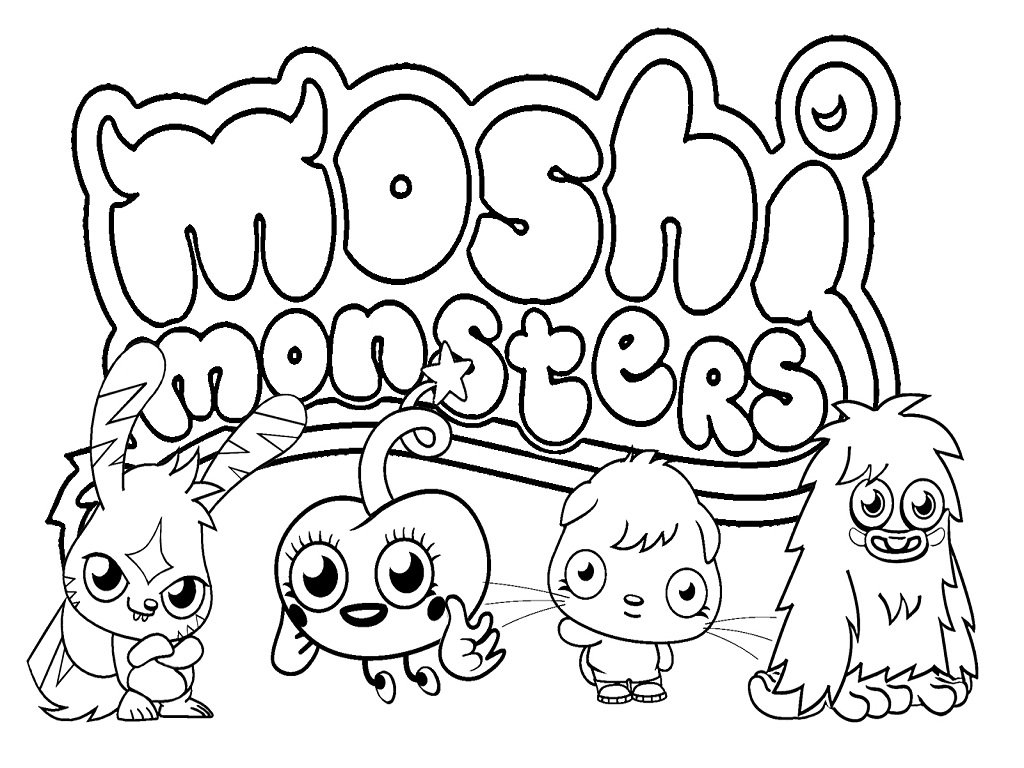 Monster Coloring Pages Free