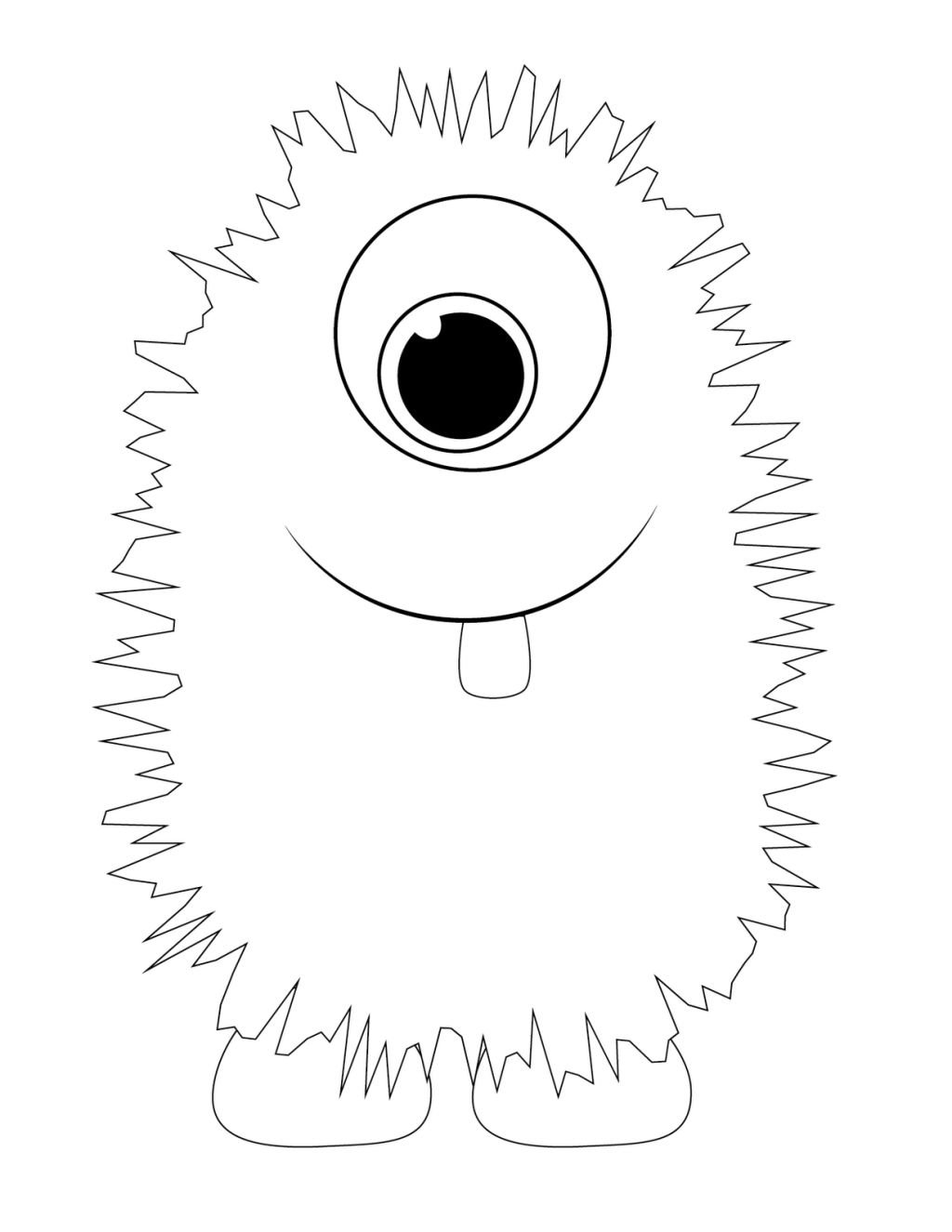Cute Monsters Colouring Pages With Cute Monster Coloring Pages