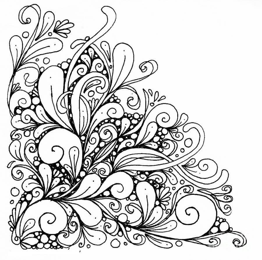 Girly Mandala Coloring Pages