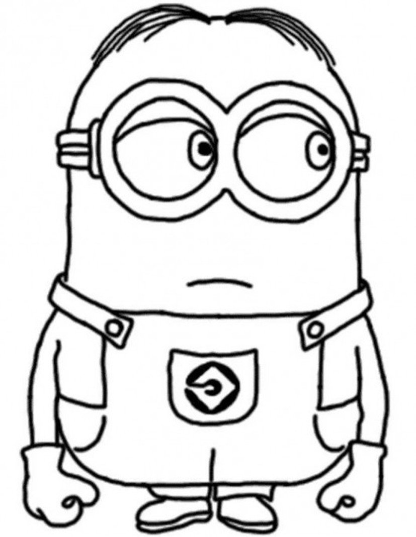 Despicable Me Coloring Pages Minion Dave