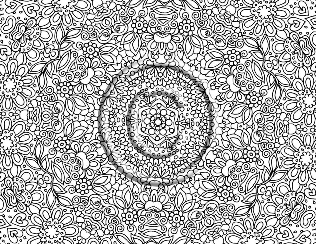 Coloring Pages  Detailed Coloring Pages For Adults To Download And