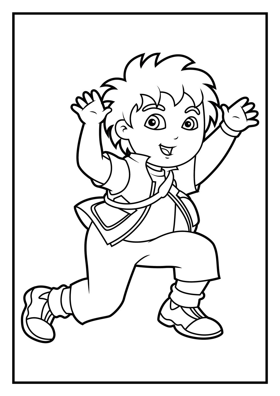 Diego Coloring Pages Dora New