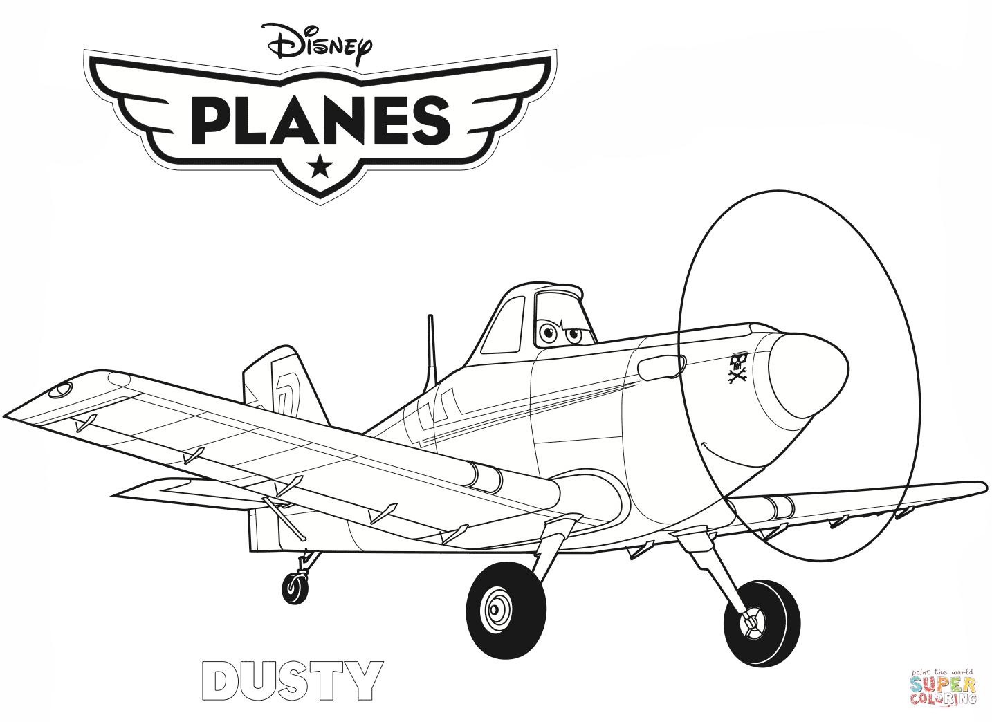Disney Planes Dusty Coloring Page