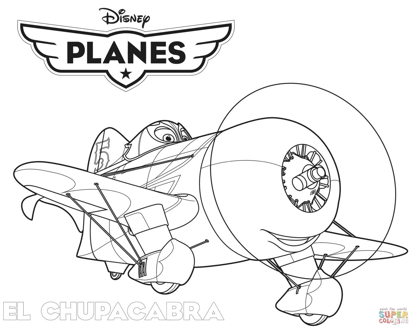 Disney Planes El Chupacabra Coloring Page