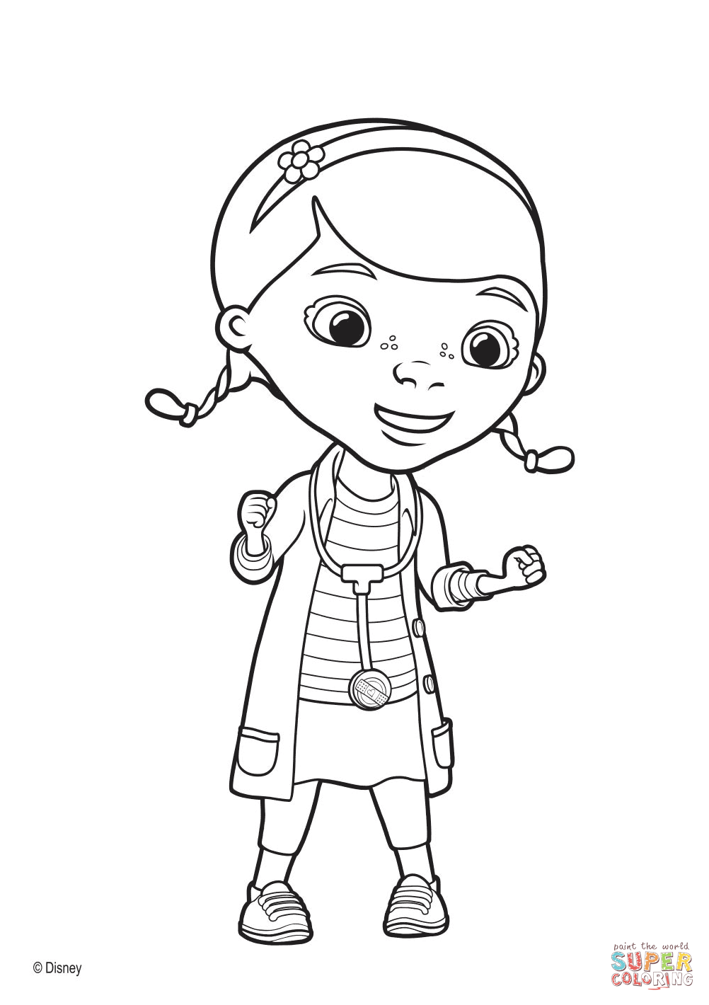 Doc Mcstuffin Coloring Pages  Doc Mcstuffins S In Door Sign Free