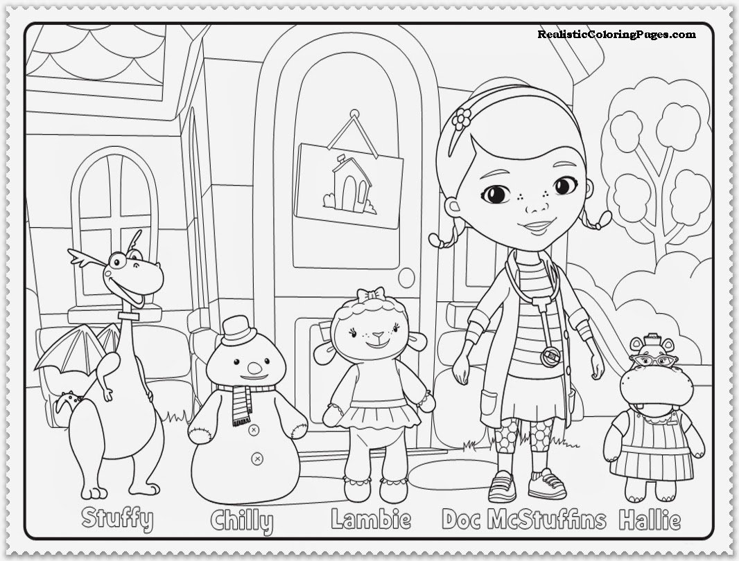 Doc Mcstuffins Coloring Pages For Mcstuffin