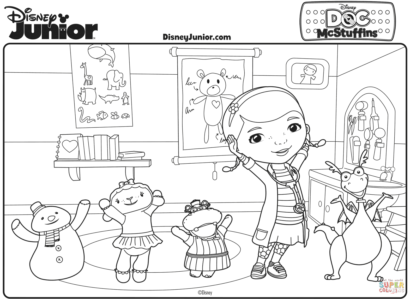 Coloring Pages Of Doc Mcstuffins At