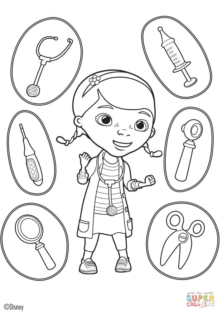 Doc Mcstuffins Tools Coloring Page Best Of Mcstuffins Coloring